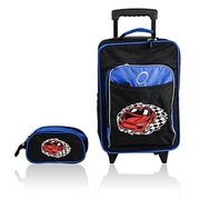 Obersee Kids Luggage & Toiletry Bag Set - Racecar(HLMN163)