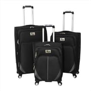 Chariot Imperia Lightweight Upright Spinner Luggage Set, Black - 3 Piece(ECWE342)
