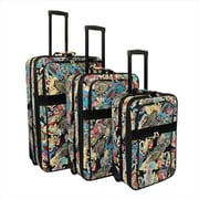 All-Seasons Prints Expandable Upright Luggage Set, Paisley - 3 Piece(ECWE135)