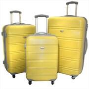 American Green Travel Expandable Hardside Spinner Luggage Set with TSA Locks, Yellow - 3 Piece(ECWE180)