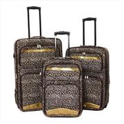 Argo Sport 86LZ11-3E Leopard Print Expandable Upright Luggage Set - 3 Piece(ECWE197)