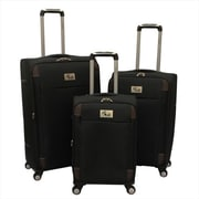 Chariot Milan Lightweight Upright Spinner Luggage Set, Black - 3 Piece(ECWE346)