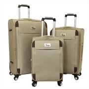 Chariot Milan Lightweight Upright Spinner Luggage Set - Khaki - 3 Piece(ECWE347)