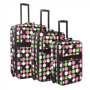 All-Seasons Prints Expandable Upright Luggage Set, Multi Dot - 3 Piece(ECWE137)