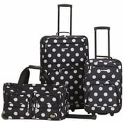 FOX LUGGAGE 3 PC LUGGAGE SET - BLACKDOT(FXL431)