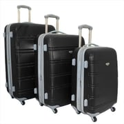 American Green Travel Expandable Hardside Spinner Luggage Set with TSA Locks, Black - 3 Piece(ECWE178)