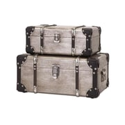 Imax Baker Aluminum Clad Suitcases, Set Of 2(RTL344686) by