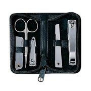 Royce Leather Deluxe Chrome Plated Mini-Manicure Kit - Tan(EMLCO750)