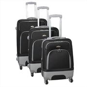 Dejuno Mobility Expandable Spinner Luggage Set, Black - 3 Piece(ECWE379)