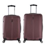 InUSA 22 & 26 in. San Francisco Lightweight Hardside Spinner Luggage, Wine - 2 Piece Set(RTA139)
