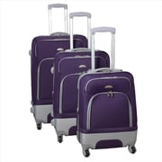 Dejuno Mobility Expandable Spinner Luggage Set, Purple - 3 Piece(ECWE380)
