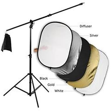 Fotodiox 48 x 72 in. Pro Ultra Reflector Kit - 5-in-1 Collapsible Disc Plus 3-in-1 Heavy Duty Boom Stand(FTDX600)