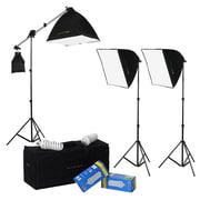 Fotodiox DayFlo EZ Lite 3-Fixture Lighting Kit - Portable 3 Light Portrait & Small Group Studio Setup(FTDX867)