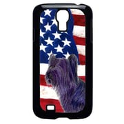 Carolines Treasures USA American Flag With Skye Terrier Galaxy S4 Cell Phone Cover(CRLT33212)