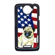 Carolines Treasures USA American Flag With Pug HTC One X Cell Phone Cover(CRLT33228)