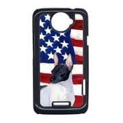 Carolines Treasures USA American Flag With Rat Terrier HTC One X Cell Phone Cover(CRLT33286)