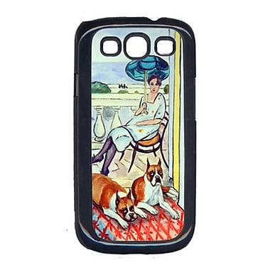 Carolines Treasures Lady with her Boxer Cell Phone Cover Galaxy S111(CRLT16038)
