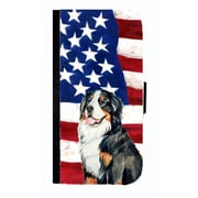 Carolines Treasures USA American Flag Bernese Mountain Dog Cell Phonebook Iphone 4 Cover Or 4S(CRLT33567)