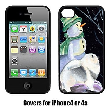 Carolines Treasures Snowman With Keeshond Iphone4 Cover(CRLT16981)