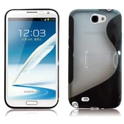RND Accessories PC Plus TPU Protective Case For Samsung Galaxy Note II With Kickstand - Black & Transparent Clear(RNDP075)