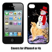 Carolines Treasures Golden Retriever With Snowman In Red Hat Iphone4 Cover(CRLT17086)