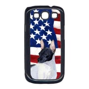 Carolines Treasures USA American Flag with Rat Terrier Cell Phone Cover GALAXY S111(CRLT33030)