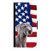 Carolines Treasures USA American Flag With Weimaraner Cell Phonebook Cell Phone Cover For Iphone 4 Or 4S(CRLT33565)