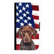 Carolines Treasures USA American Flag German Shorthaired Pointer Cell Phone Case For Iphone 5 Or 5S(CRLT33629)