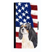 Carolines Treasures USA American Flag Cavalier Spaniel Cell Phone Case Cover For Iphone 5 Or 5S(CRLT33652)