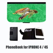 Carolines Treasures Turtle Cell Phonebook Cell Phone case Cover for IPHONE 4 or 4S(CRLT32511)
