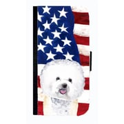 Carolines Treasures USA American Flag With Bichon Frise Cell Phone Case Cover For Iphone 4 Or 4S(CRLT33586)