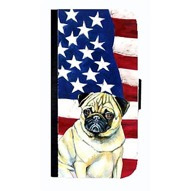 Carolines Treasures USA American Flag With Pug Cell Phonebook Case Cover For Galaxy S3(CRLT33715)