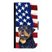 Carolines Treasures USA American Flag With Rottweiler Cell Phone Case Cover For Iphone 5 Or 5S(CRLT33674)