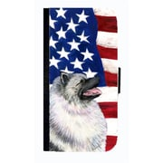 Carolines Treasures USA American Flag With Keeshond Cell Phonebook Case Cover For Iphone 5 Or 5S(CRLT33694)