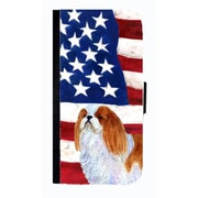 Carolines Treasures USA American Flag With English Toy Spaiel USA Cell Phone Case Cover For Galaxy S3(CRLT33763)