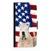 Carolines Treasures USA American Flag Wheaten Terrier Soft Coated Cell Phone Case For Iphone 4 Or 4S(CRLT33602)