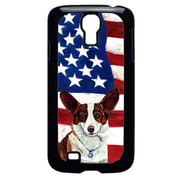 Carolines Treasures USA American Flag with Corgi Cell Phone Cover GALAXY S4(CRLT33159)