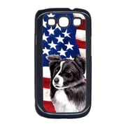 Carolines Treasures USA American Flag with Border Collie Cell Phone Cover GALAXY S111(CRLT33127)
