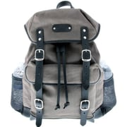Leatherbay Padua - Leatherbay Day Backpack, Grey-Black(LTRBY093)