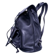 Leatherbay Leather Backpack With Single Pocket, Black(LTRBY081)
