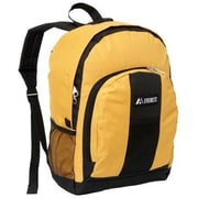 Everest BP2072-YE-BK Backpack with Front & Side Pockets - Yellow-Black(EVRT524)
