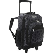 Everest 9045WH-DGRY-BK Wheeled Backpack with Pattern - Dark Grey-Black(EVRT691)