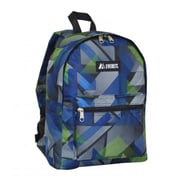 Everest 1045KP-BL-GRN GEO Basic Pattern Backpack - Blue-Green(EVRT527)