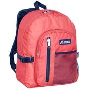 Everest 5045SC-ROG-BK Backpack with Front Mesh Pocket - Rust Orange-Black(EVRT573)