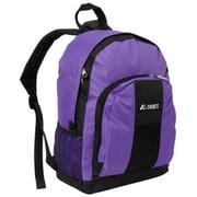 Everest BP2072-DPL-BK Backpack with Front & Side Pockets - Dark Purple-Black(EVRT520)