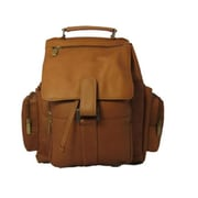 David King & Co Top Handle X-Large Backpack- Tan(DVDK063)
