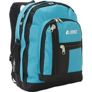 Everest 5045-TURQ-BK Double Compartment Backpack - Turquoise-Black(EVRT641)