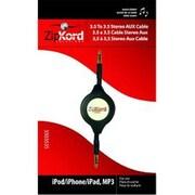 Ekg-Zipkord ZipKord Retractable Aux Stereo Cable 3.5mm Black 32in BP 32in Black(DGC12998)