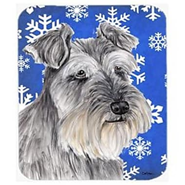Carolines Treasures Schnauzer Winter Snowflakes Holiday Mouse Pad, Hot Pad Or Trivet(CRLT22646)