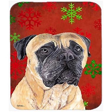 Carolines Treasures Mastiff Red And Green Snowflakes Holiday Christmas Mouse Pad, Hot Pad Or Trivet(CRLT22861)